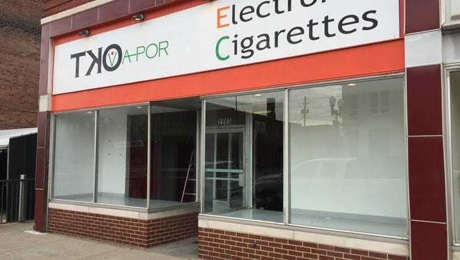 The vacant storefront at 2203 W. Franklin St. used to be an electronic cigarettes business.