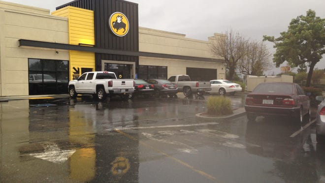 A man was shot and killed in the Buffalo Wild Wings parking lot on Saturday night.