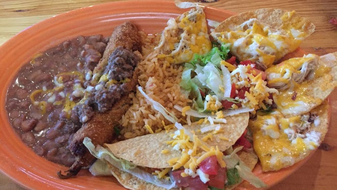 The Lunch Bunch Buddy chose the create-your-own-lunch, choose-three option ($7.29) at Don Jose's. He picked hand-pulled chicken nachos, the chile relleno with ground beef and a ground beef taco
