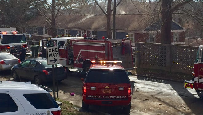 The Asheville Fire Department responded to a structure fire at an apartment building Jan. 12 at Pisgah View Apartments in West Asheville. No one was injured, but residents will be displaced.