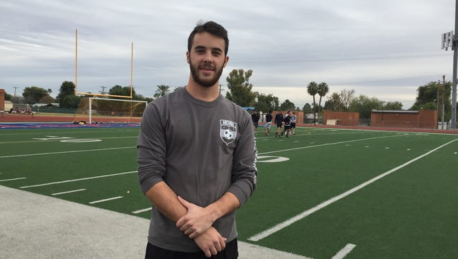 Hayden Klarfeld fits in well as head boys soccer coach at Arcadia, where he played and graduated in 2012