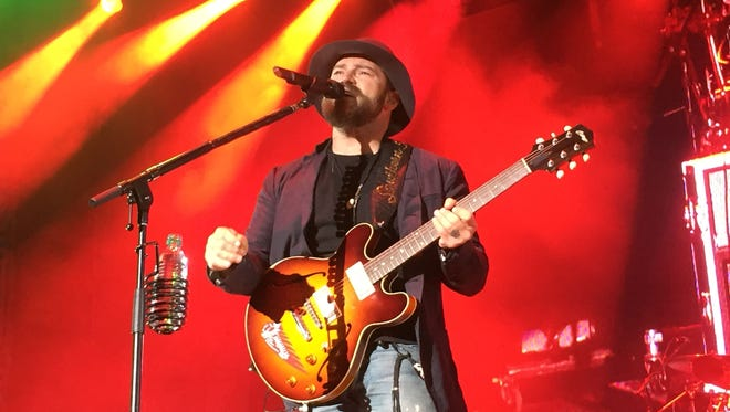 The Zac Brown Band performs for a full-capacity crowd in White River State Park in Indianapolis at the March Madness Music Fest during the Capital One JamFest on Sunday, April 5, 2015. Other big-name performers were Kacey Musgraves and Lady Antebellum. Performances ran from 2 p.m. to 10 p.m.