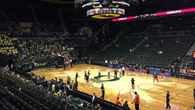 No. 11 Oregon hosts Oregon State on Saturday at Matthew Knight Arena.