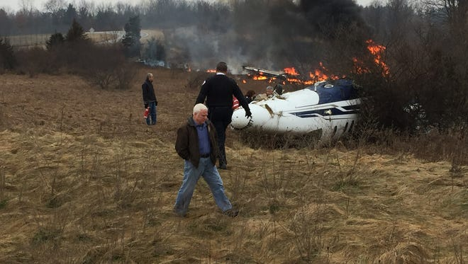 A 60-year-old Batavia, New York, man escaped serious injury after his Textron 525C commuter jet skidded off the runway at the Spencer J Hardy Airport in Howell Township on Monday.
