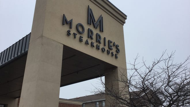 The renamed entrance to Morrie's Steakhouse.