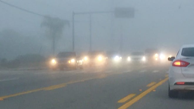 Dense fog reduced visibility along roadways in Brevard County on Wednesday morning.