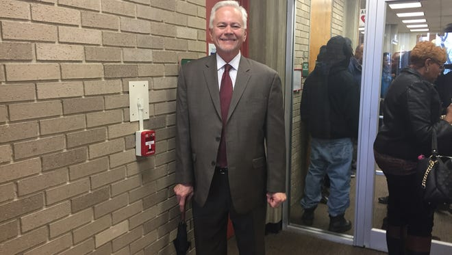 Thursday morning was a light moment for Cumberland County Jail Warden Robert Balicki, who was among guests at the swearing in of a new Vineland judge at City Hall. Balicki will be retired from the jail as Feb. 1.