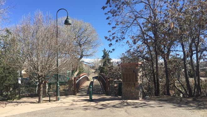 Silver City is a beautiful place to visit and a walk through downtown will quickly show how peaceful the town is. Above, the Market Street Bridge creates a pathway over the Big Ditch from Market Street to Hudson Street.