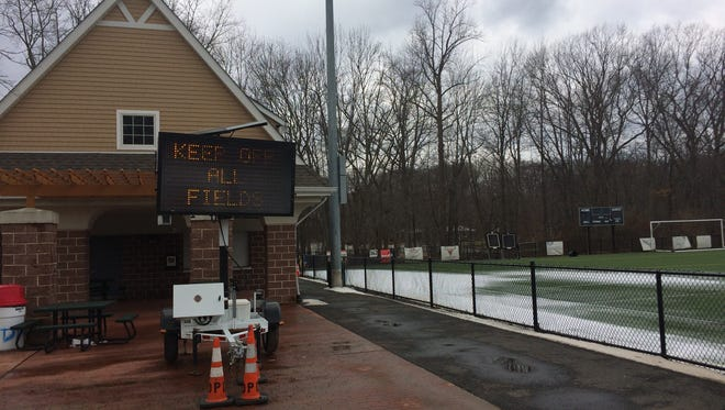 The fields at the Doug Parcells Athletic Complex have been off-limits to the public for the past three weeks.