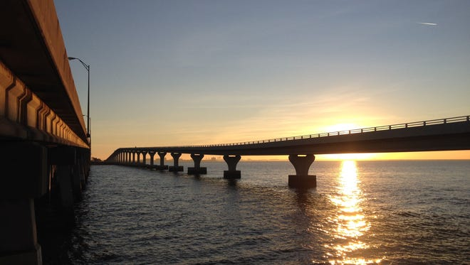 The Courtney Campbell Causeway Trail stretches across Tampa Bay for a scenic 9.5 miles, connecting the city of Clearwater with Tampa. It will be part of the Gulf Coast Trail network that will stretch south, through Naples.