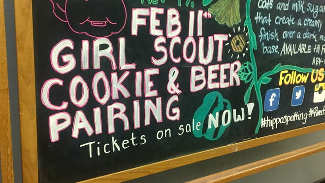 River Horse Brewing in Ewing host a Girl Scout cookie and craft beer pairing.