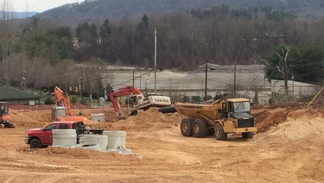 Construction has begun on Liberty Oaks, a 111-unit townhome and detached homes development on Smokey Park Highway in Candler.
