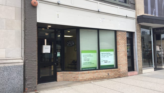 Sparrow FastCare in downtown Lansing closed on Feb. 1.