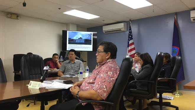 In this Feb. 9 file photo, the Guam Land Use Commission meets.