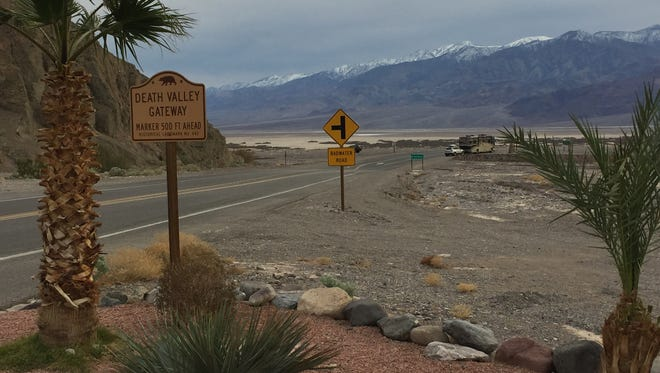 The view of Death Valley National Park from the Furnace Creek Inn.