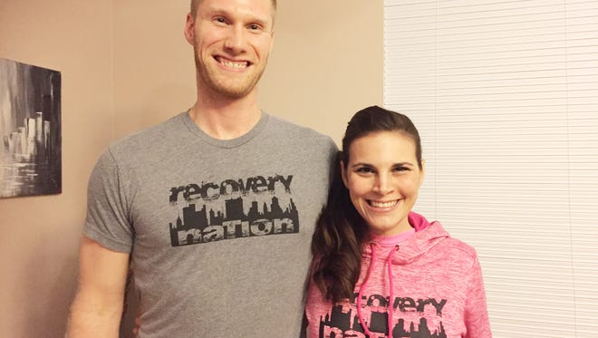 """Jeremy Ridgley and Ember Sheppard are the owners of Recovery Nation Apparel. Both are former addicts and created the apparel line to celebrate recovery. """"We want people to know that there is hope, that we do recover and that you should be proud of your recovery,"""" Sheppard said."""