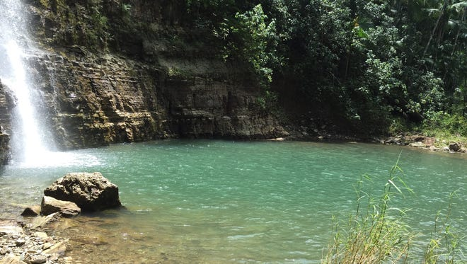The pool at Sigua Falls. Not only is the hike a must, but so is a dip in the waters.