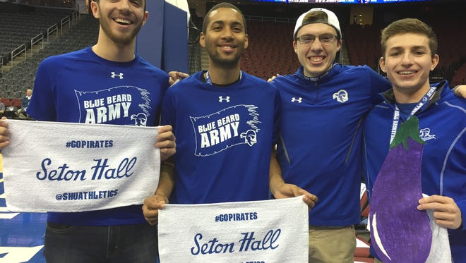 Seton Hall student-fans were ready to rock an hour before tip-off.