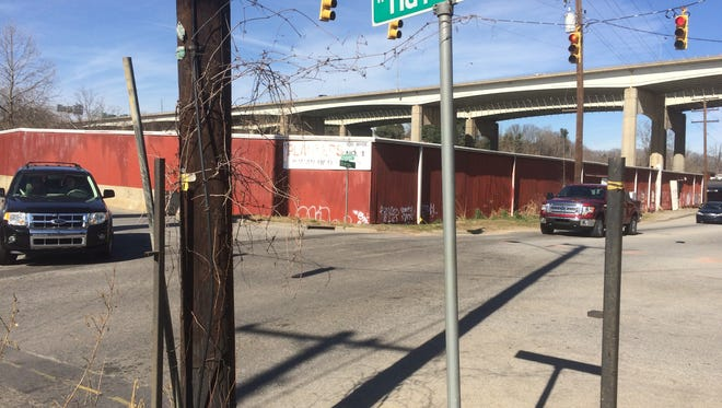 The intersection of West Haywood Street and Riverside Drive in the River Arts District is scheduled for major improvements, but a traffic circle is not among them.