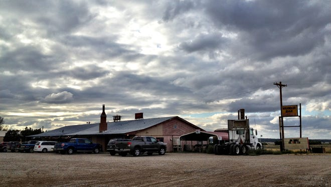 The Wrangler Bar & Cafe in Grass Range serves up beer and beef near an intersection under consideration by the Montana Department of Transportation.