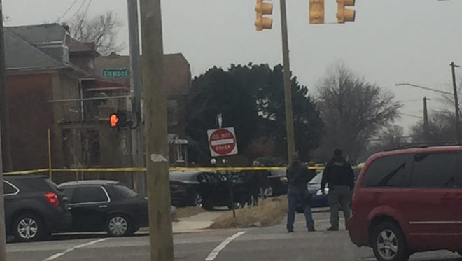 A man suspected of sex crimes was shot by a U.S. Marshal Tuesday morning.