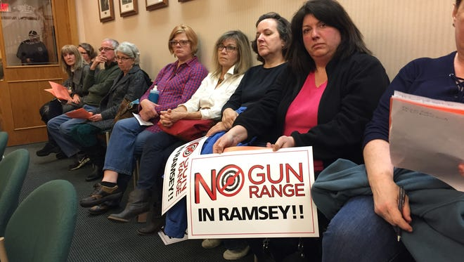 Protestors have turned out at Ramsey meetings to express their opposition to a proposed firing range.