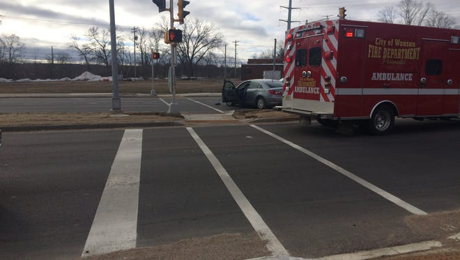 A man was injured Thursday in a crash in downtown Wausau.