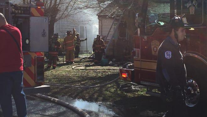 A house fire in Salisbury on Feb. 22, 2017.