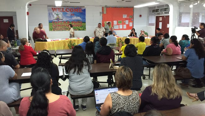 Guam Education Board members, during their regular board meeting on Feb. 21 at Price Elementary School, adopted pre-advanced placement courses for middle schools.