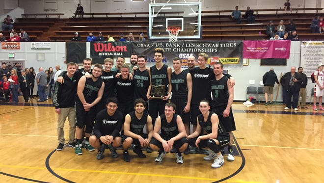 Salem Academy's boys basketball team placed fourth at the 3A state basketball tournament on Saturday, March 4, 2017.