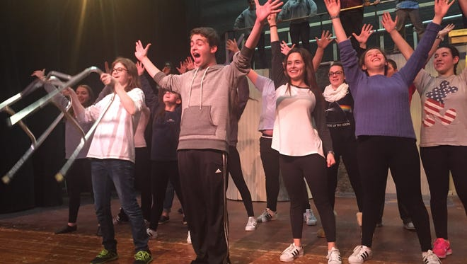 """Clarkstown North presents """"Urinetown"""" -- about a society where people have to pay to well, pee -- 8 p.m., March 10, 11, 17, 18; $15; $12 students, seniors."""