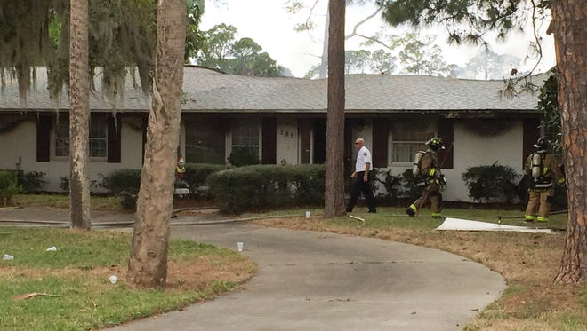 Firefighters responded to a Wednesday morning house fire in the 200 block of Gray Road in West Melbourne.