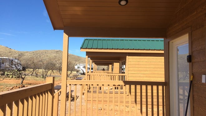 Porches offer a front-row seat to nature at Kartchner Caverns State Park. The cabins are perfect for those who want to enjoy the outdoors without camping.