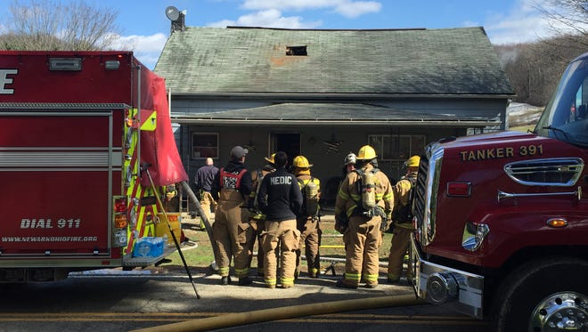 The  Hanover Volunteer Fire Department, with aid from multiple Licking County emergency agencies, responded to a residential fire in the 2800 block of Swans Road Northeast on Saturday.