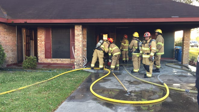 A home sustained minor damage in a house fire early Tuesday morning.