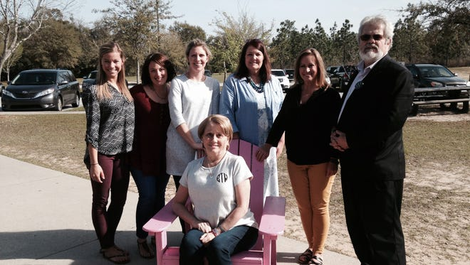 Greg Parsons of Parsons Consulting Group donated a handmade Adirondack chair to the Ft. Braden Relay for Life team.