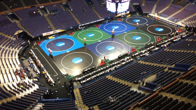 Scottrade Center in St. Louis, Mo. during the 2017 NCAA Divsion I Wrestling Championships