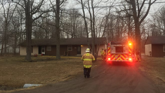 Rescue crews responded to a fire in the 2300 block of Hopps Road shortly before 8 a.m. Monday.