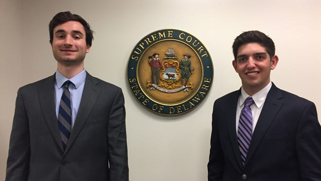 Josh Berkowitz, 23, of Woodcliff Lake, New Jersey, and Alexander Burns, 23, of Landenberg, Pennsylvania, are the first judicial fellows for the courts.