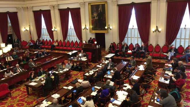 The Vermont House of Representatives considers a bill on Tuesday, March 21, 2017, to allow police to remove guns from people accused of domestic assault.