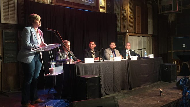 The Meet the Press panel included members from several Acadiana media outlets.