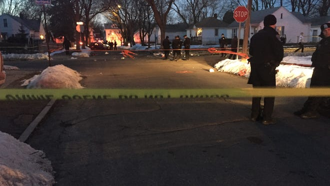 Rochester police on scene of a serious two-car crash at the intersection of Jerold Street and Northland Avenue Wednesday. Two people were critically injured.