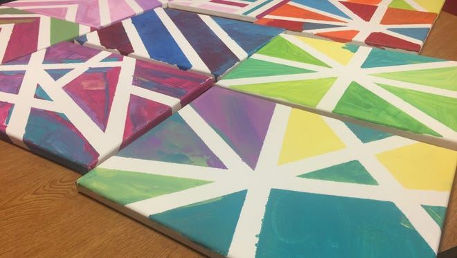 Residents at the Lantern at Morning Pointe Alzheimer's Center of Excellence in Lenoir City painted pieces as art therapy for an auction to benefit the Alzheimer's Tennessee walk in Knoxville.