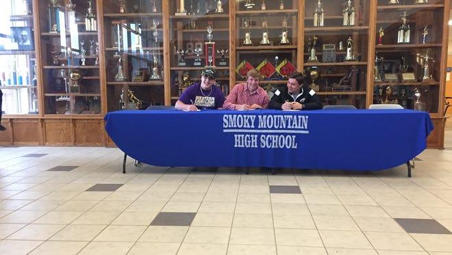 Three Smoky Mountain seniors have decided to join the Western Carolina University football program as preferred walk-on players.