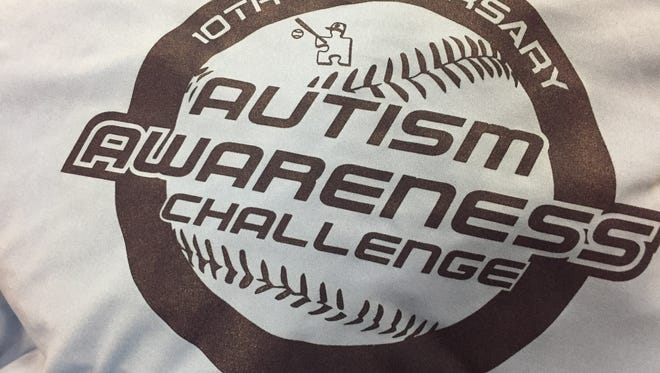 Autism Awareness Baseball Challenge logo.