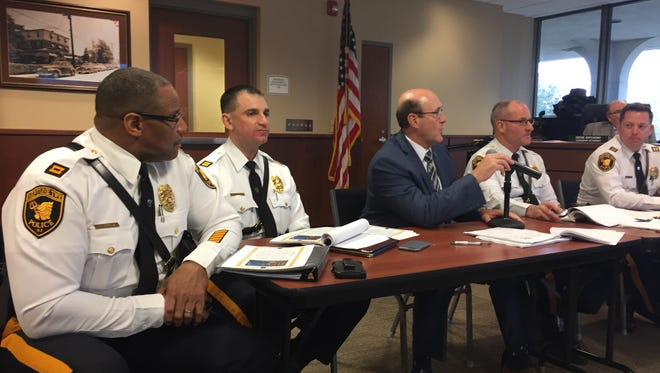 Neptune Township police gave their annual report in March