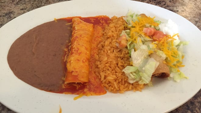 The Lunch Bunch Buddy ordered the create-your-own combo at El Norteno Tres in Burkburnett. He chose the chicken enchilada, chicken flauta and a beef hard taco.