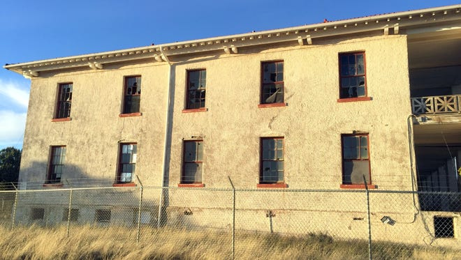Fort Bayard remains untouched for the past several years. Buildings are rotting at an alarming rate as seen in the above picture of the Nurses Quarters.