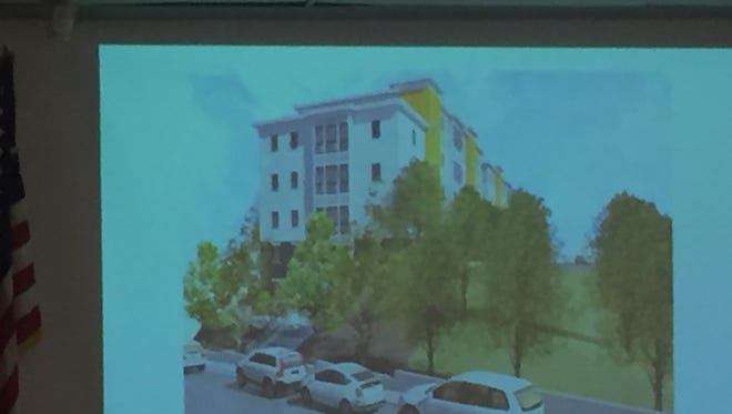 Rendering of the proposed townhouse that would be located at 238 Linden Ave.