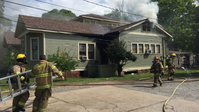 A home in Lafayette caught fire Wednesday morning.